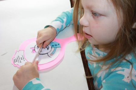 Printable Mirror-Mirror Craft For Mother's Day with Loving Message
