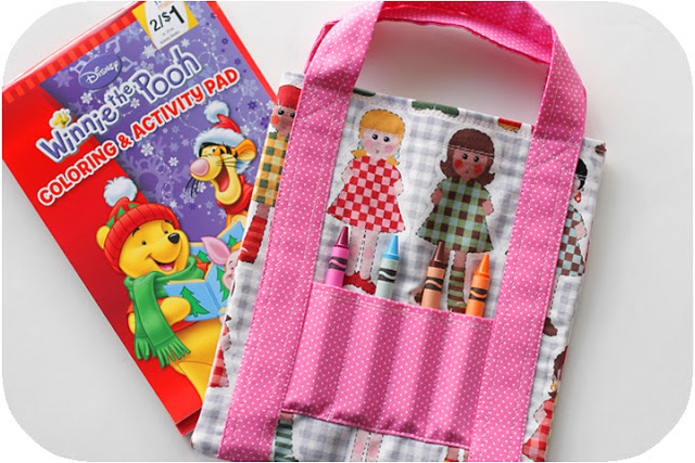 Quick and Easy Fat Quarter Project: Mini Coloring Tote with Color Pencil Storage