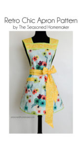 Retro Chic Apron Pattern with Yellow Contrasting Tie and Waistband