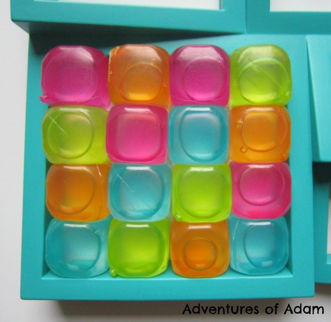 Reusable Plastic Ice Cubes with Rainbow Color Accents