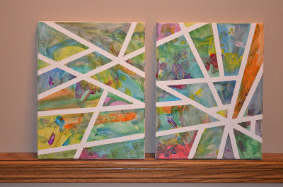 Captivating Canvas Painting Trick with White Tape for Preschoolers