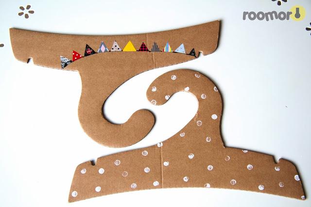 DIY Cardboard Clothing Hanger with Pretty Designs