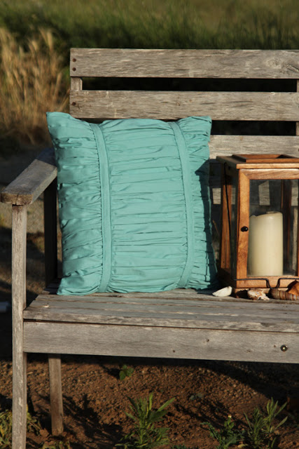 Ruched Throw Pillow with Pleated Pattern: A Fancy Comfy Cushion for Outdoors