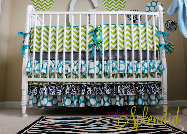 DIY Nursery Bedding Stuff Sewing Project: Ruffled Crib Skirt Tutorial