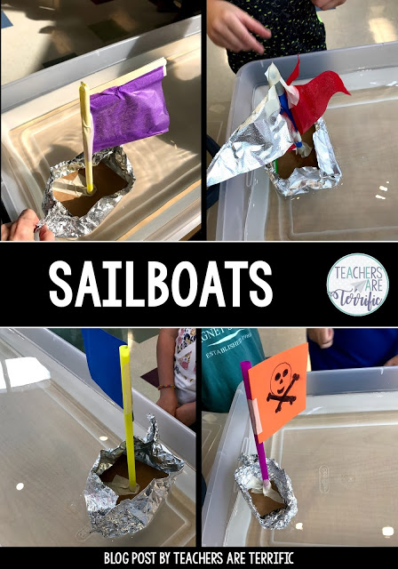 Sailing Away with Sailboats in the STEM Lab! #stemactivities for kids