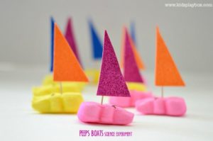 Science for Kids : Easter Science with Peeps Boats #stem activities for kids