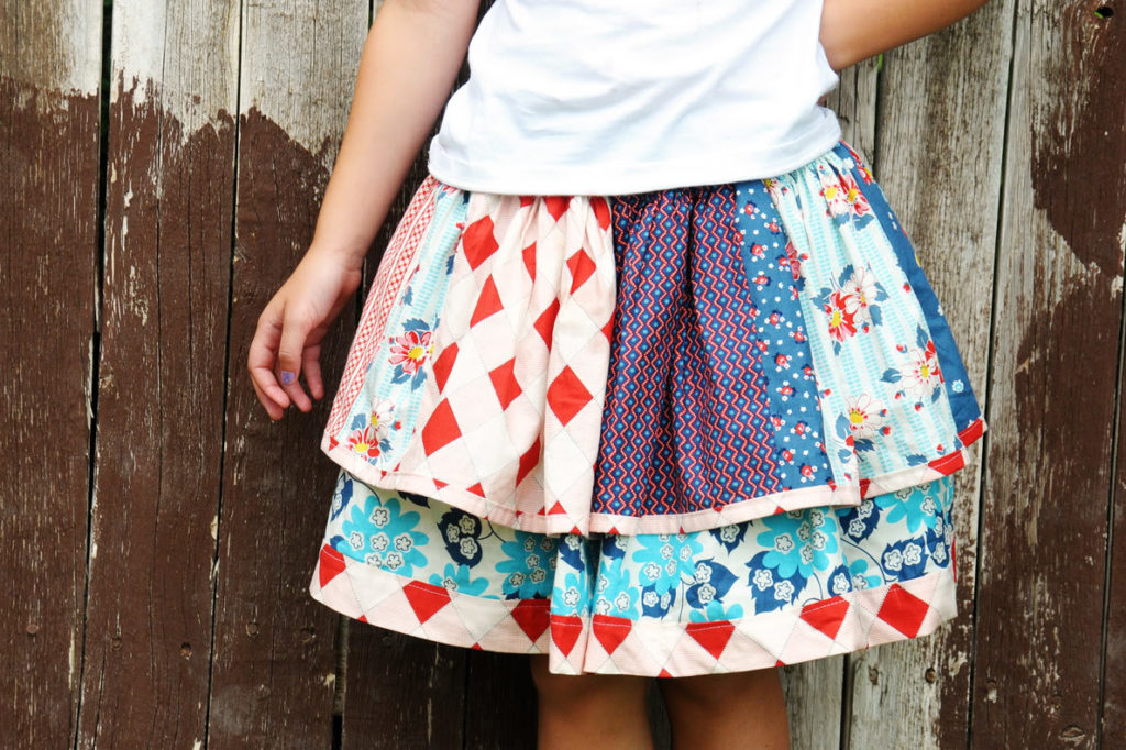 Scrappy Layer Skirt Tutorial with Colorful and Attractive Fabric Scraps