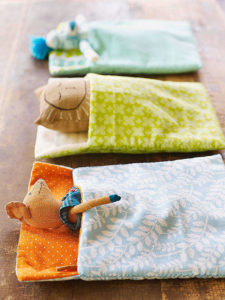 Totally Sewed and Quilted Scrap Fabric Sleeping Bag for Stuffed Animals