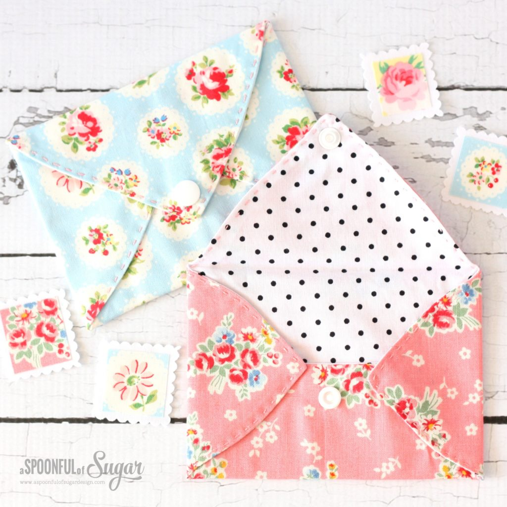 Captivating Fabric Envelopes From Assorted Fabric Scraps with Double Sided Fusible Web