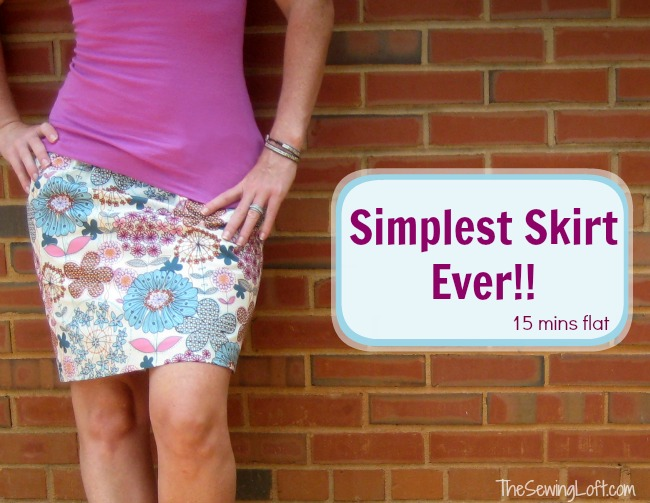 Simple Skirt Mini Skirt Tutorial By The Sewing Loft: A 15-Minute DIY Outfit Craft Idea