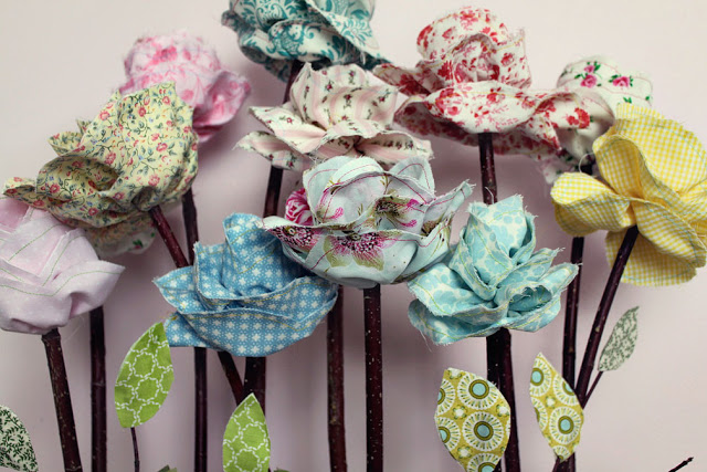 Long Stemmed Fabric Flowers: A SnowyBliss Craft