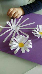 Preschool Spring Craft Idea: Pretty Flowers from Paper Strips