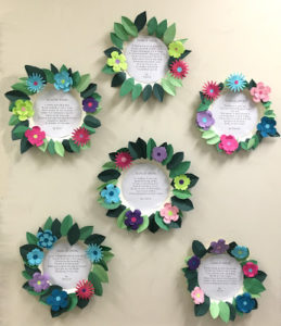 Spring Poetry Wall Art Project with DIY Floral Frame Decorations