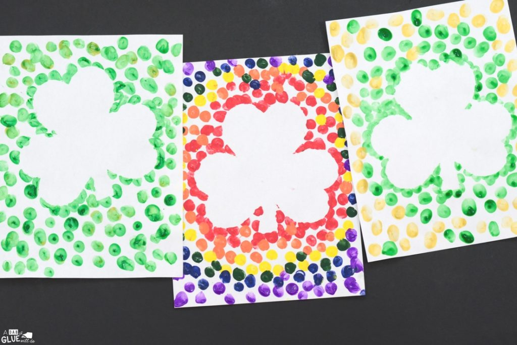 DIY Decoration Craft: Shamrock Print with Colors