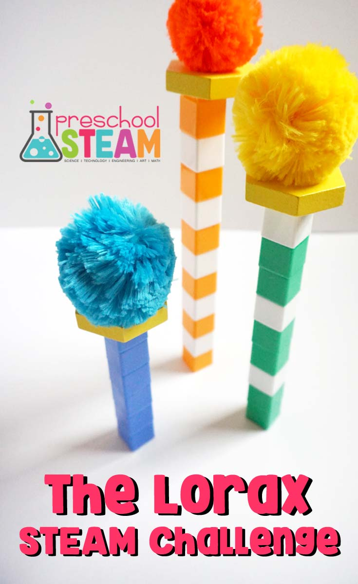 Steam Challange with The Lorax: DIY Preschooler Activity