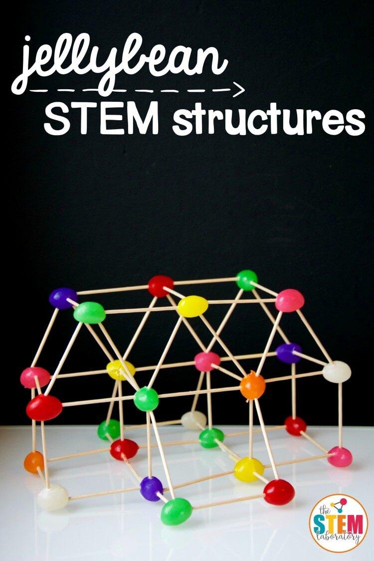 STEM Jellybean Structures – The Stem Laboratory #stem Activities for Kids