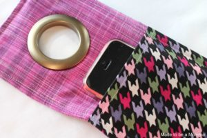 Stroller Cell Phone Carrier with a Thick Metal Ring Holder