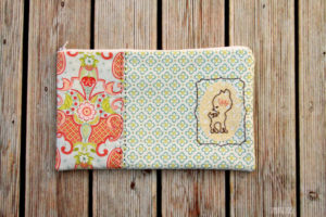 Sweet Deer Embroidered Zipper Pouch: An Easy Peasy DIY Fabric Craft Idea