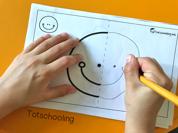 Free Printable Symmetry Picture Drawing: Fun Preschool Activity for Kids
