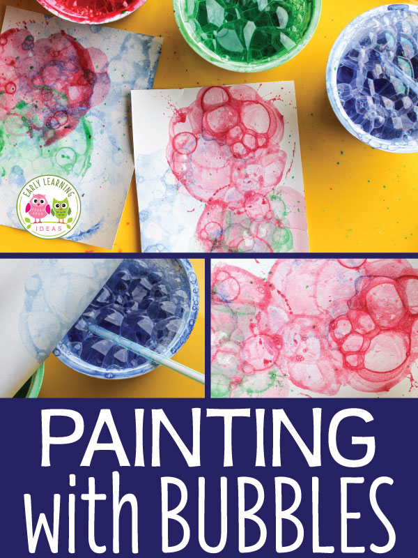 Unique Art Activity for Preschoolers: Colorful Bubble Painting
