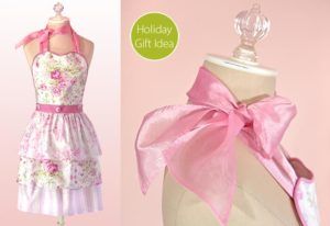 Romantic Cottage Style DIY Apron in Frock Pattern with EMbellished Waistband and Triple Tier Ruffles