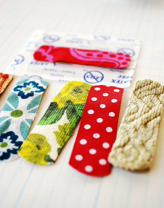 Cute & Simple Fabric Bandaids from Scrap Fabric Strips