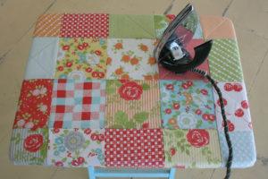 DIY Fat Quarter Craft Mini Ironing Table Cover with Scrap Fabric Squares