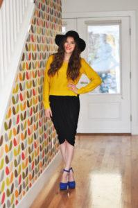 Voguish DIY Skirt: Draped Tulip Wrap Skirt in Knee-Length Free Pattern with Various Pleats