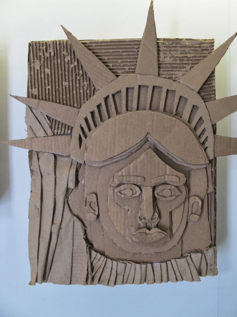 Supremely Creative Cardboard Relief Portrait: DIY Visual Art Craft for Home Decor