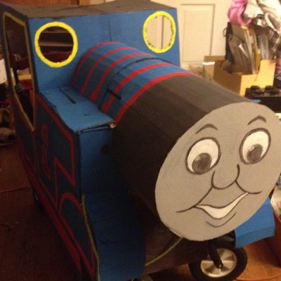 Thomas the Tank Engine Wagon: Adorable Cardboard Craft Project for Toddlers