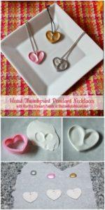 DIY Heart Thumbprint Clay Pendant Necklace