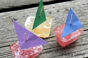 Tin Foil River and Mini Ice Boats: DIY Confetti Sumer Activity