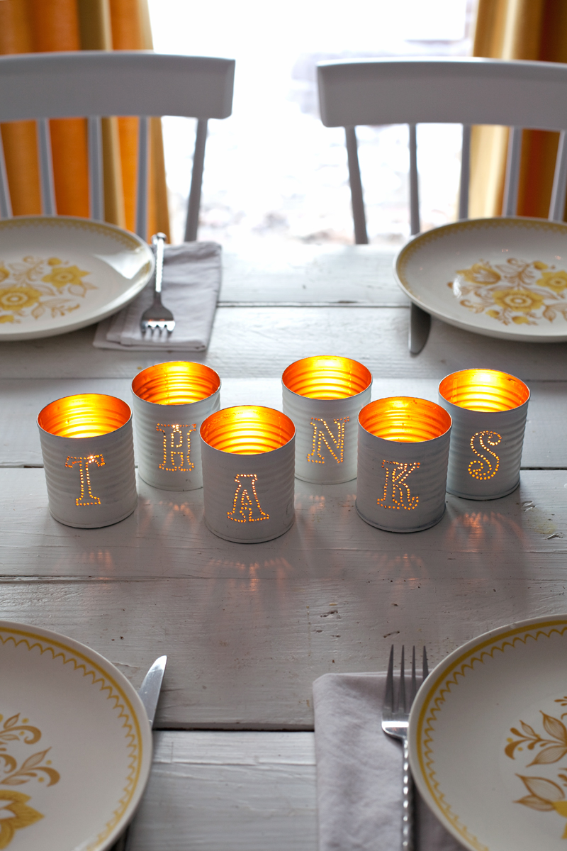 Captivating Tin Punched Votive Candles with Grey Paint