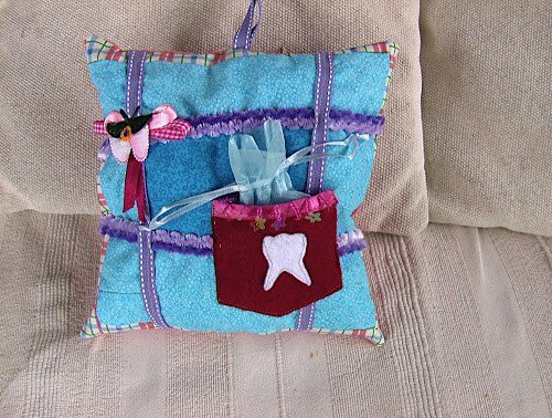 Tooth FairyPillow in Sewn Up Pattern and Cute Pocket Storage