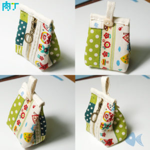 Triangle Change Small Bag Practice: Manual DIY Fabric Coin Purse Tutorial