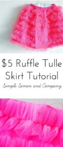 Tulle Ruffle Skirt in Trendy Thigh-Length Free Pattern and Vibrant Pink Shade
