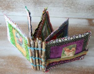 Chicken Coop Fabric Journal Book with Sturdy Bamboo Stick Holders