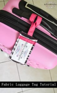Ultimate Fabric Scrap Craft Project-Homemade Fabric Luggage Tags