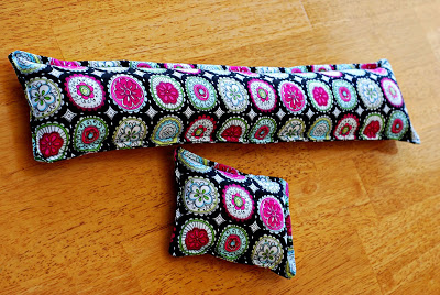 DIY Rice-Filled Keyboard Wrist-Rest with Trendy Scrappy Fabric Design