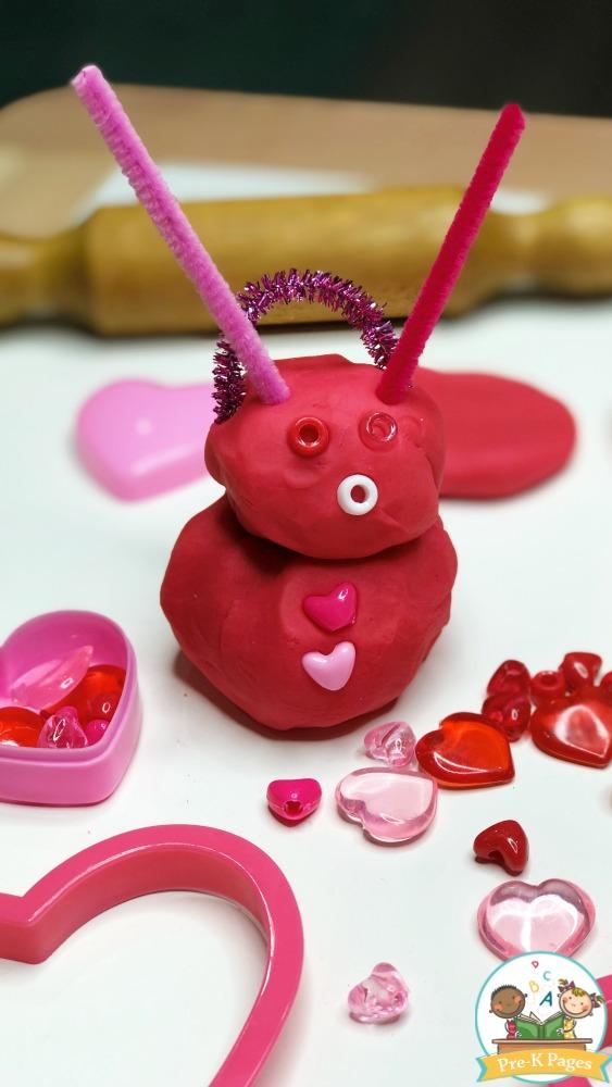 Valentine Play Dough Craft Idea: Lovely Preschool Activity for Kids