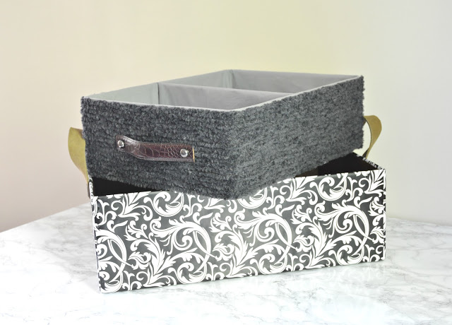 DIY Baskets: Cardboard Shipping Boxes with Catchy Covers