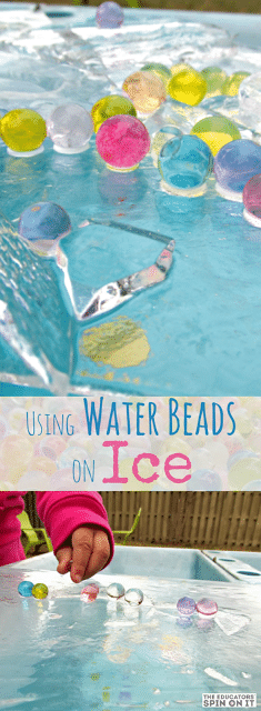 Sleek Ice Craft Idea for Kids: Frozen Water Beads in Ice