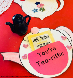 Free Printable Teapot Template with Smart Storage for DIY Cards