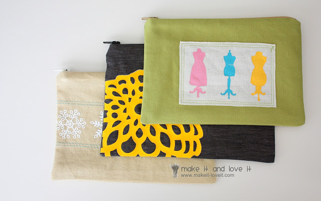 Zippered Pouches Craft Personalized with Iron Made of Different Catchy Cotton Fabrics