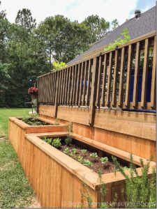 A Backyard Makeover with Raised Garden Beds: An Overall Wooden Project with Attached Trellis