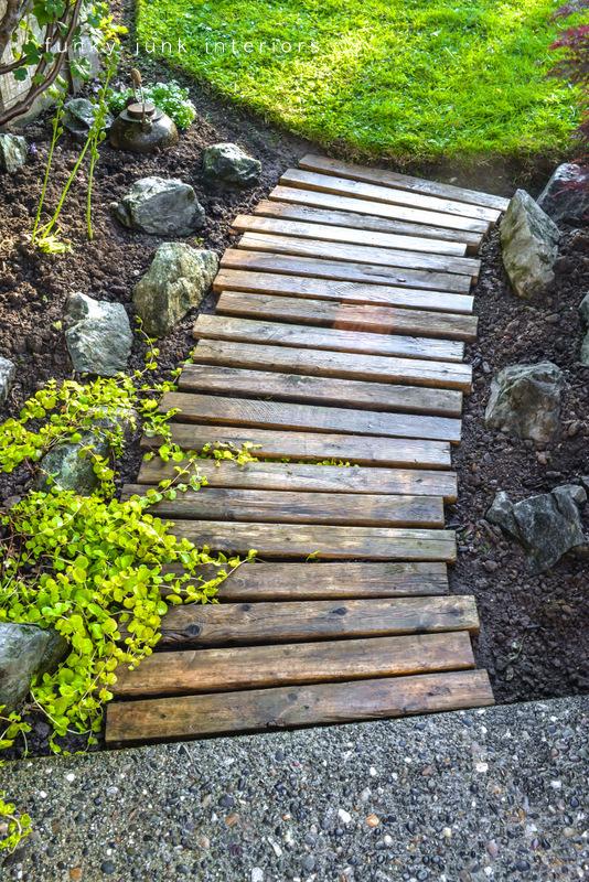 A Pallet Wood Garden Walkway: DIY Rustic Outdoor Decor Idea