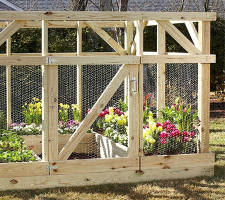 Spectacular Large Raised Garden Bed Project with Protecting Encloser