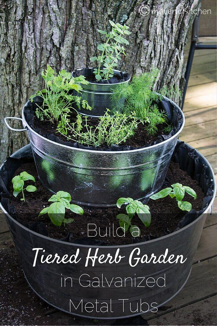 Exclusive Fountain Of Herbs Diy Herb Gardening In Tiered