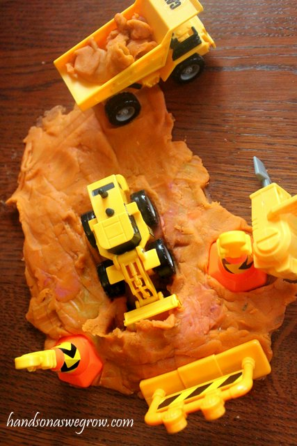 DIY Project for Instigating Fine Motor Skill: Play Dough Construction Site Activity Idea