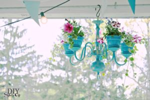 Chandelier Planter Tutorial: A Totally Exclusive House Decorating Idea for Porch Area
